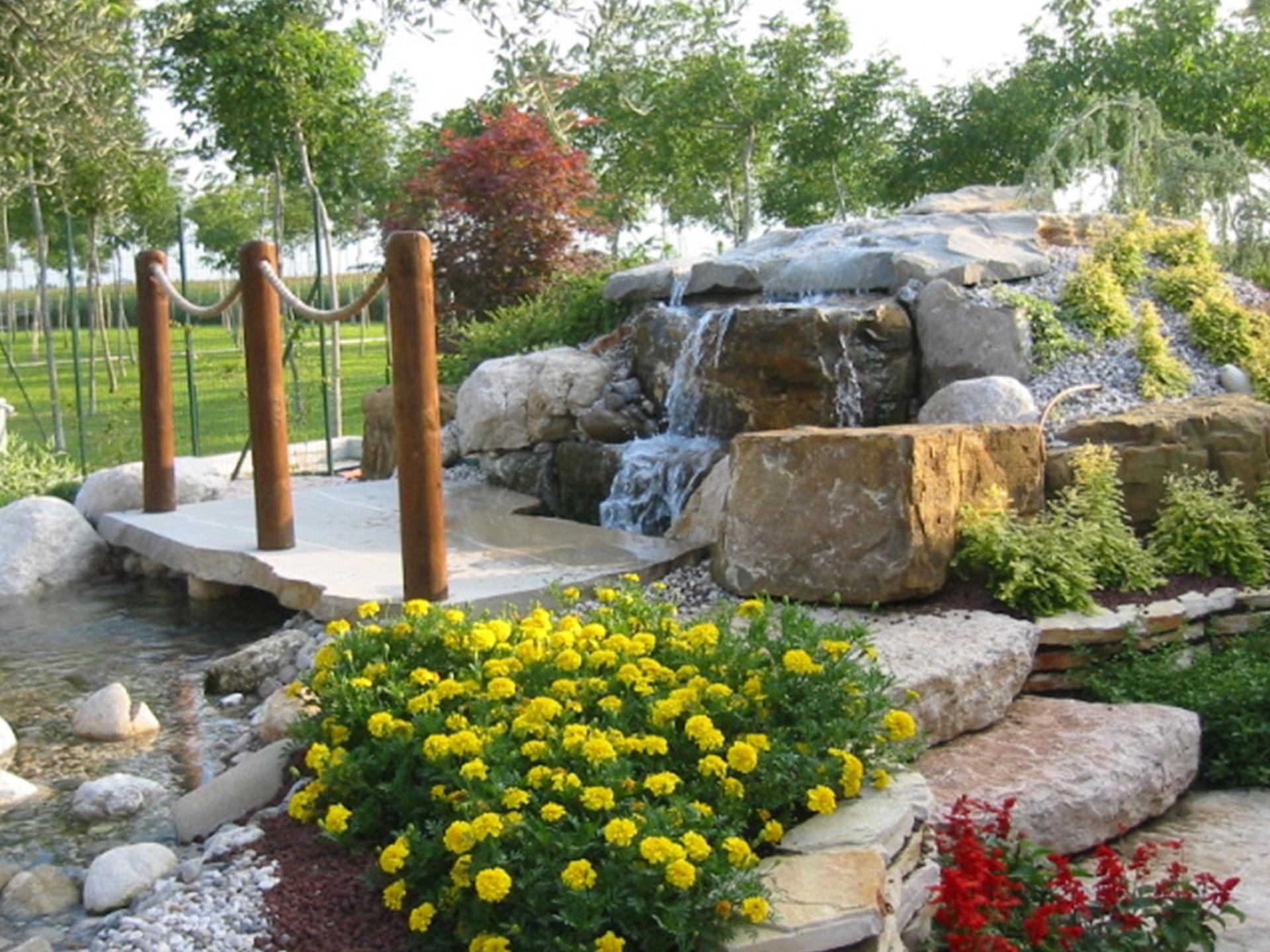 Telo Per Laghetto Da Giardino creazione fontane in pietra naturale - dimensione giardino